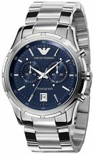 Emporio Armani AR0583  Silver Tone Stainless Steel Chronograph Date Men's Watch