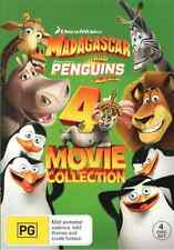 Madagascar (1 - 3) / Penguins of Madagascar (4 Movie Collection) DVD NEW