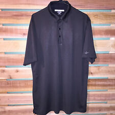 MENS GREG NORMAN POLYESTER PLAY DRY SHORT SLEEVE GOLF ATHLETIC POLO SHIRT LARGE