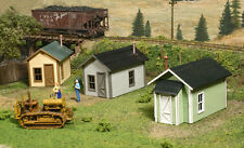 LaserKit HO Scale Miner's Cabins 3 pack Kit #722  Bob The Train Guy