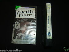 RUMBLEFISH RUMBLE FISH AUSTRALIAN VHS MOVIE PAL VIDEO