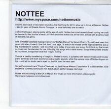 (DK6) Nottee, Control - 2009 DJ CD
