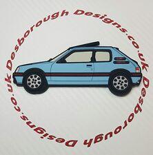 Peugeot 205 gti aimants de réfrigérateur , Topaz Bleu
