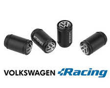 Volkswagen Motorsports Black Wheel Valve Dust Caps. GTi Golf Polo VR6