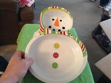 Melamine Snowman dip and chip tray