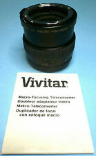 Vivitar 2X Macro Focusing Teleconverter MC N/Ai 50mm VG Condition Made in Japan