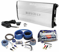 New Hifonics Brutus BRX3016.1D 3000W RMS Mono Car Amplifier+Amp Kit+Capacitor