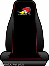 mr horsepower clay smith cams black red embroidered seat cover