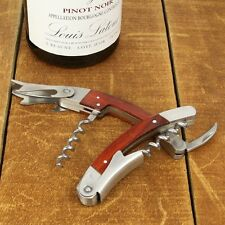 SureTap Wood Handle Foldable Waiters Wine Bottle Opener / Knife / Corkscrew