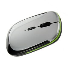 NEW 2.4GHz Ultra-Slim Mini USB Wireless Optical Mouse Silver For PC Laptop KQ