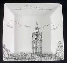 222 Fifth CITY SCENES-BLACK London Soup Cereal Bowl 7300342