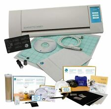 Silhouette CAMEO V2 Digital Cutting Machine Rhinestone & Glass Etch Kits Bundle