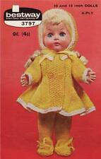 DOLL  PATTERN for 10 & 12 inch - vintage doll knitting pattern