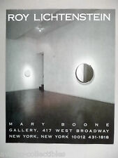 Roy Lichtenstein Art Gallery Exhibit PRINT AD -- 1989