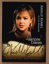 2011/12 ARIELLE KEBBEL Cryptozoic Vampire Diaries 1 - Autograph Insert Card #A14