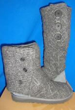 UGG Australia LATTICE CARDY Knit Charcoal Gray Boots Size US 7, EU 38 NEW #3066