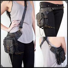 Steampunk Belt Bag Waist leg Hip Holster Purse Pouch Cyberpunk Fanny Packs Women