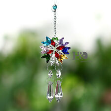 Colorful Crystal Suncatcher Prism Hanging 38mm Rainbow Pendant Mobile Home Decor