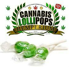5x CANNABIS LOLLIES lollipops sweets THC FREE hemp marijuana joke FREE POST gift