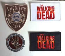 WALKING DEAD TV Series Logo Patch Set of 4- FREE S&H (WDPA-SET-4)
