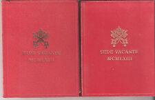 VATICANO SEDE VACANTE 1963  FDC UNC CON CUSTODIA ROVINATA