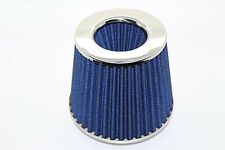 Twin Cone Universal Air Filter 3 ports W155*H130MM   Neck Blue 65mm