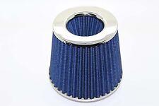 Cono Doble Universal Filtro De Aire 3 puertos W155 H130MM 65mm ID Cuello Azul
