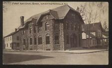 Postcard WASHINGTONVILLE New York/NY  1st First National Bank view 1907