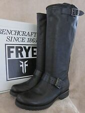 FRYE Veronica Slouch Leather Buckle Black Boots Shoes US 6 M EU 36 - 37 NWB $328