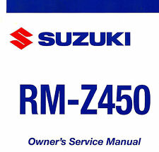 2008 SUZUKI RM-Z450 MOTOCROSS MOTORCYCLE OWNERS SERVICE MANUAL -RM Z450