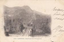 LOURDES 643 basilique vue longeante timbrée 1902