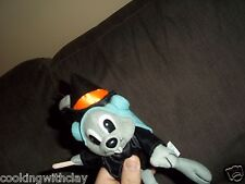 NEW ROCKY & BULLWINKLE PLUSH DOLL  HALLOWEEN WARLOCK WITCH SQUIRREL BROOMSTICK
