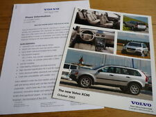 "VOLVO XC 90 ORIGINAL PRESS RELEASE "" BROCHURE "" jm"