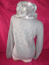 Victoria's Secret Hoodie Sweatshirt Sequin Bling XS PiNK NWT