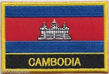 Cambodia Flag Embroidered Patch Badge - Sew or Iron on