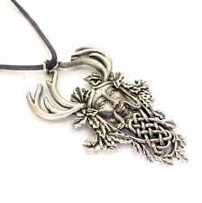 Greenwood Herne the Hunter Amulet Charm Pendant Necklace Pewter GW04