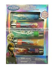 DISNEY FROZEN 5pc Set SQUEEZY LIP GLOSS Fruity Flavors+Glitter ELSA+ANNA (Boxed)