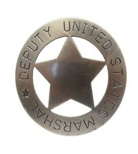 Anstecker Pin Button Sheriff Stern United States Deputy Marshal Lone Star