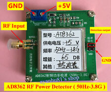 DC5V RF Radio Frequency Detektor Power Indikator RMS Detector AD8362 50HZ-3.8GHZ