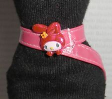 BELT ~ BARBIE DOLL MY MELODY SANRIO PINK PLASTIC BUNNY BUCKLE ACCESSORY CLOTHING