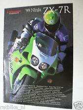 K199 KAWASAKI  BROCHURE PROSPEKT FOLDER 1999 NINJA ZX-7R  DUTCH 8 PAGES