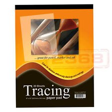 30 Sheets 9 x 12 inch Premium Quality Tracing Paper Pad for Sketches Preliminary