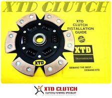 XTD 6 PUCK STAGE 3 CLUTCH DISC 02-06 RSX BASE TYPE-S CIVIC SI K20