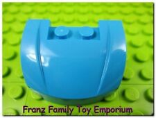 New LEGO Vehicle MUDGUARD 3x4 Dark Azure Blue Curved Small Car Hood Brick Part