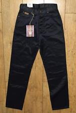 "Bnwt Women's Wrangler Angie Jeans UK10 L32"" Regular Fit Shiny Metallic Black"