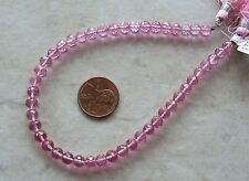 "9"" Strand AAA Pink Topaz Gemstone Faceted Round Beads 5mm ~ SUPER SPARKLE"