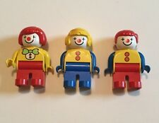 "LEGO DUPLO CIRCUS CLOWNS: Lot of 3 - 2.5"" FIGURES Carnival - Rare! Excellent!"