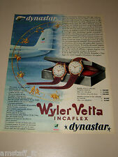 *60=WYLER VETTA OROLOGIO WATCH=1958=PUBBLICITA'=ADVERTISING=PUBLICIDAD=WERBUNG=