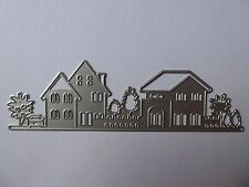 House & Tree Scene Cutting Die Stencil,Villa,Craft,Card Making,Scrapbooking,New