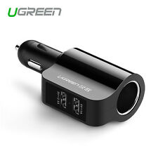 Ugreen 3.4A Dual 2 Port USB Car Charger Adapter for Samsung iPhone HTC Universal